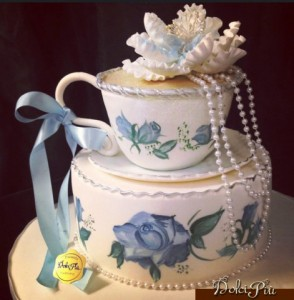 Bridal Shower Tea Cup Cake