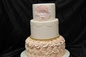 Peach and gold rosettes