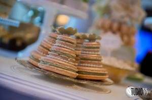 Mini Macaron wedding cake